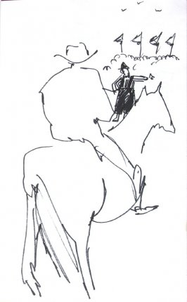 Untitled (Cowboy), Illustration 6 in the book Sketchbook (Honeymoon)