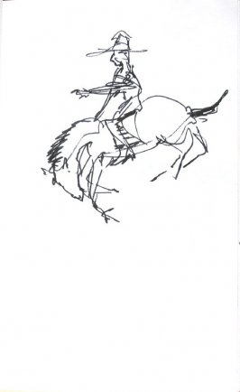 Untitled (Cowboy), Illustration 9 in the book Sketchbook (Honeymoon)