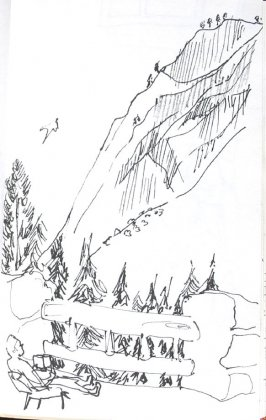 Honeymoon at the Ahwahnee, Illustration 16 in the book Sketchbook (Honeymoon)