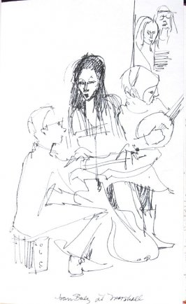 Joan Baez at Marshall, Illustration 20 in the book Sketchbook (Honeymoon)