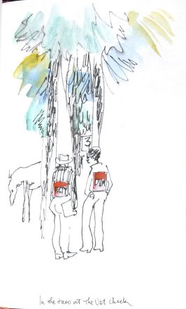 In the Trees at the Vet Check, Illustration 26 in the book Sketchbook (Honeymoon)