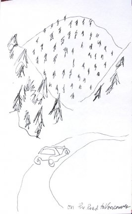 On the Road to Vancouver, Illustration 33 in the book Sketchbook (Honeymoon)