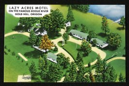 Lazy Acres Motel postcard, Illustration 34 in the book Sketchbook (Honeymoon)