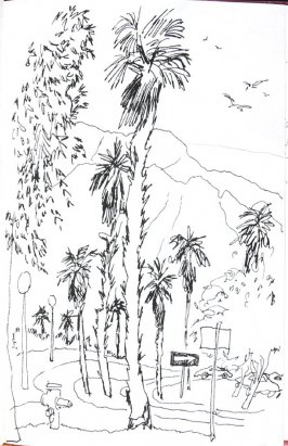 Untitled (Road with mountain), Illustration 50 in the book Sketchbook (Honeymoon)
