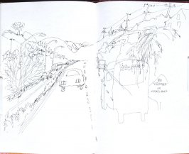 Untitled (No Trucks in Oakland), Illustration 57 in the book Sketchbook (Honeymoon)
