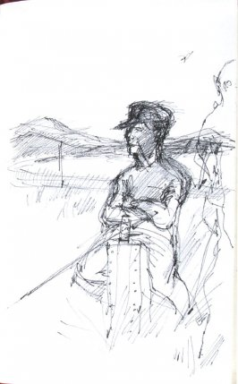 Untitled (standing man), Illustration 70 in the book Sketchbook (Honeymoon)