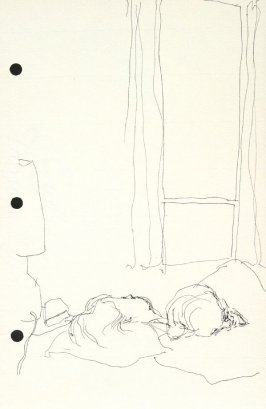 Untitled (Judith in bed), Illustration 4 in the book Sketchbook (National Finals Rodeo)
