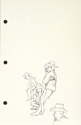 Untitled (Rodeo spectators), Illustration 6 in the book Sketchbook (National Finals Rodeo)