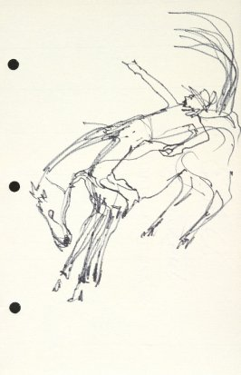 Untitled (Bucking horse), Illustration 8 in the book Sketchbook (National Finals Rodeo)