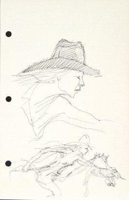Untitled (Cowgirl), Illustration 12 in the book Sketchbook (National Finals Rodeo)
