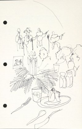 Untitled (Dining scene), Illustration 17 in the book Sketchbook (National Finals Rodeo)