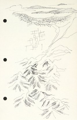 Untitled (Aerial view), Illustration 19 in the book Sketchbook (National Finals Rodeo)