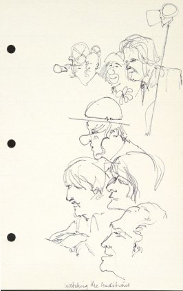 Watching the Auditions, Illustration 25 in the book Sketchbook (National Finals Rodeo)