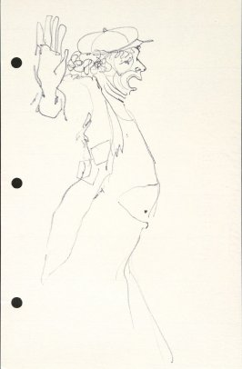 Untitled (Clown), Illustration 26 in the book Sketchbook (National Finals Rodeo)