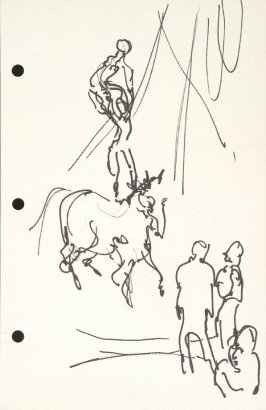 Untitled (Circus), Illustration 28 in the book Sketchbook (National Finals Rodeo)