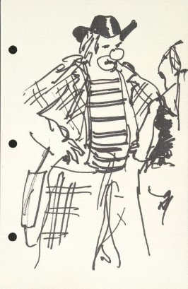 Untitled (Clown), Illustration 30 in the book Sketchbook (National Finals Rodeo)