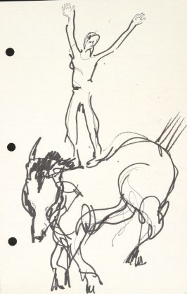 Untitled (Circus performer on horse), Illustration 31 in the book Sketchbook (National Finals Rodeo)