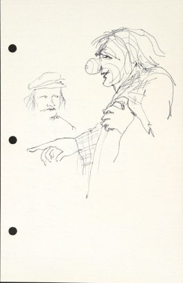 Untitled (Clown), Illustration 32 in the book Sketchbook (National Finals Rodeo)