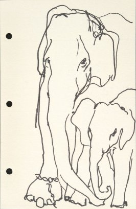 Untitled (Elephants), Illustration 33 in the book Sketchbook (National Finals Rodeo)