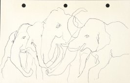 Untitled (Elephants), Illustration 34 in the book Sketchbook (National Finals Rodeo)