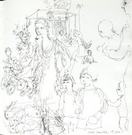 Petit Marché, Illustration 4 in the book Sketchbook (Paris and Amsterdam)