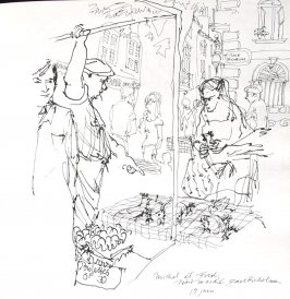 Petit Marché, Place Richelme, Illustration 6 in the book Sketchbook (Paris and Amsterdam)