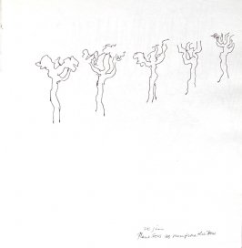 Plane Trees as Seen From the Bus, Illustration 8 in the book Sketchbook (Paris and Amsterdam)