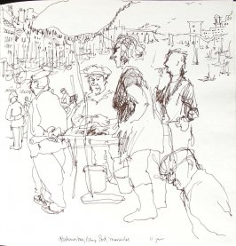 Pecheurs Tous, Vieux Port, Marseilles, Illustration 12 in the book Sketchbook (Paris and Amsterdam)
