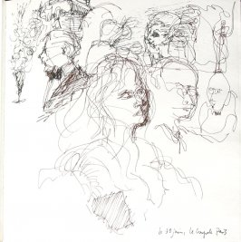 Le Coupole, Illustration 19 in the book Sketchbook (Paris and Amsterdam)