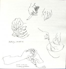 Untitled (Hands of Josephine Araldo), Illustration 23 in the book Sketchbook (Paris and Amsterdam)