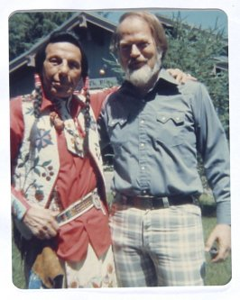 Untitled (Bud Johns and Iron Eyes Cody), Illustration 1 in the book Sketchbook (Western Film Conference)