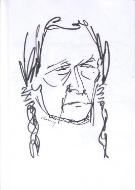 Untitled (Iron Eyes Cody), Illustration 13 in the book Sketchbook (Western Film Conference)