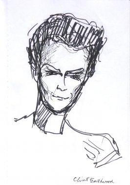 Clint Eastwood, Illustration 18 in the book Sketchbook (Western Film Conference)