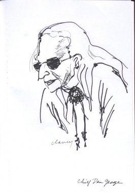 Chief Dan George, Illustration 23 in the book Sketchbook (Western Film Conference)