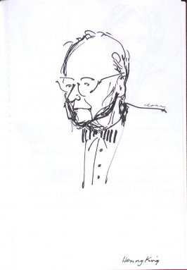 Henry King, Illustration 24 in the book Sketchbook (Western Film Conference)