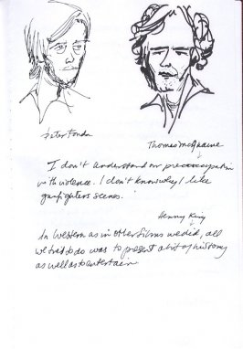 Peter Fonda and Thomas McGhaine, Illustration 25 in the book Sketchbook (Western Film Conference)