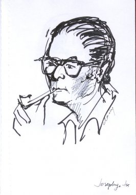 Alvin Josephy, Jr., Illustration 28 in the book Sketchbook (Western Film Conference)