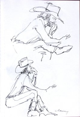 Untitled (Peter Fonda), Illustration 35 in the book Sketchbook (Western Film Conference)