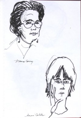 Diana Carey and Jennie Calder, Illustration 37 in the book Sketchbook (Western Film Conference)