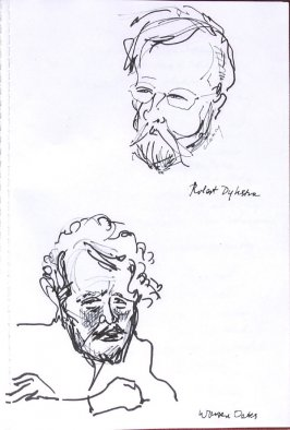 Robert Dykstra and Warren Oates, Illustration 38 in the book Sketchbook (Western Film Conference)