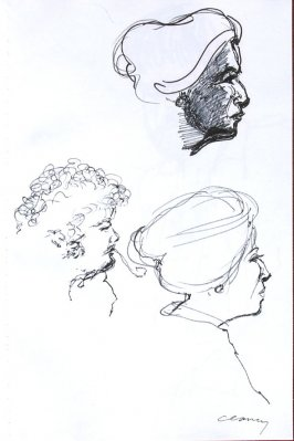 Untitled (Diane Christian and Bruce Jackson), Illustration 46 in the book Sketchbook (Western Film Conference)