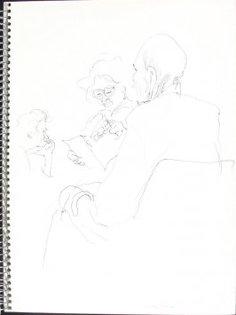 Waiting Room, Illustration 1 in the book Sketchbook (Pacific Medical Center Clinic, I)