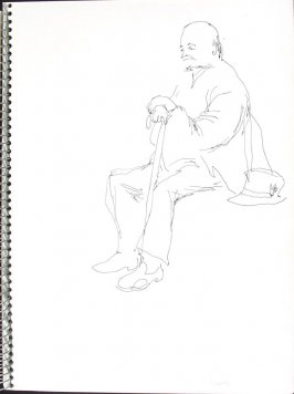 Smitty, Illustration 15 in the book Sketchbook (Pacific Medical Center Clinic, I)