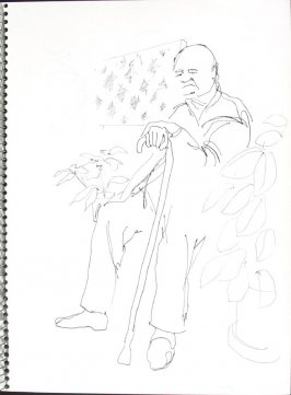 Smitty, Illustration 16 in the book Sketchbook (Pacific Medical Center Clinic, I)