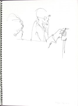 Weigh-In #2, Illustration 17 in the book Sketchbook (Pacific Medical Center Clinic, I)