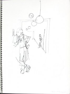 Main Hallway, Illustration 20 in the book Sketchbook (Pacific Medical Center Clinic, I)