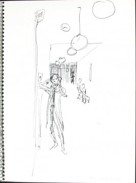 Main Hallway, Illustration 22 in the book Sketchbook (Pacific Medical Center Clinic, I)