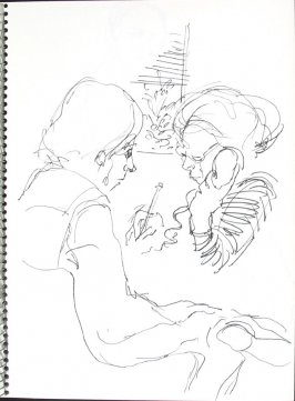 Untitled (Patient Rep), Illustration 23 in the book Sketchbook (Pacific Medical Center Clinic, I)