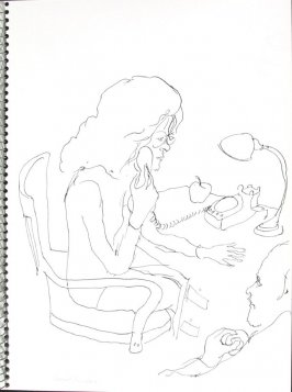 Special Services, Illustration 25 in the book Sketchbook (Pacific Medical Center Clinic, I)