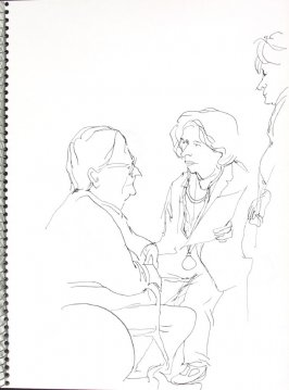 Untitled (Consultation), Illustration 26 in the book Sketchbook (Pacific Medical Center Clinic, I)